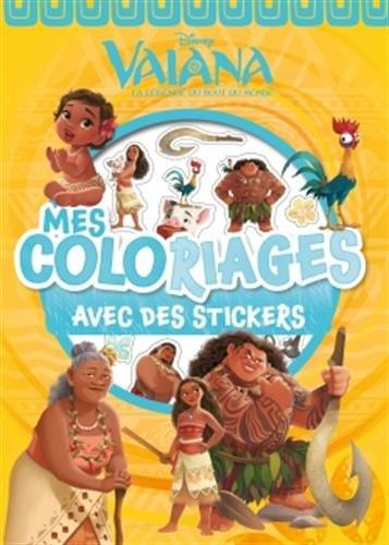 VAIANA - Mes Coloriages Avec Stickers