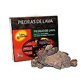 Piedras Volcánicas para Barbacoa, 3 kg | Rocas de Lava Perfectas para Cocinar en Parrilla Eléctrica