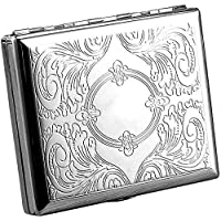 Cigarette case wallet Smoking accessory for box Retro Metal Cigarette Case Box - Yhouse Double Sided Spring Clip Open Pocket Holder for Cigarettes
