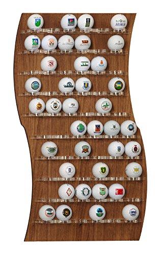 Ball Wall vitrine d'affichage pour 60 balles de golf, à mur ou sur table, design italien exclusif, fabriquée en plexiglas et en bois poli à main