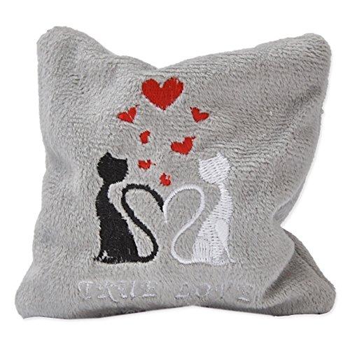 Katzenspielkissen True Love mit Silver Vine, Mini, 10 x 10 cm
