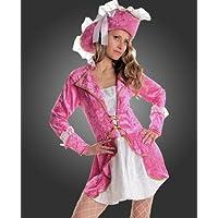 Maylynn - Disfraz de pirata caribe para mujer, fucsia rosa, talla 36/38