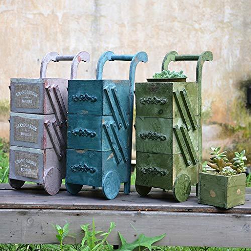 Flower ladder rack, wooden, planter holder, elegant design floor shelf, indoor outdoor garden patio plant bonsai porta fiori decorativi (colore : gray)