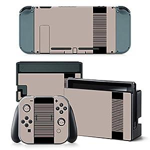 Nintendo Switch Skin Design Foils Aufkleber Schutzfolie Set – Retro NES Motiv