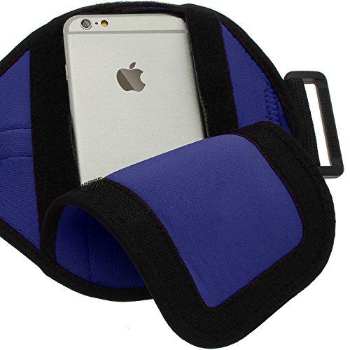 igadgitz Acqua Resistent Nero Fascia da Braccia Sport Jogging Gym per Apple iPhone 6 & 6S 4.7 Blu
