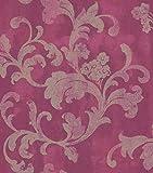 Rasch Tapeten 455373 Kollektion Florentine II-Vliestapete Ornament in Beige auf Pink-Vintageoptik, 10, 05M x 0, 53M (LxB)
