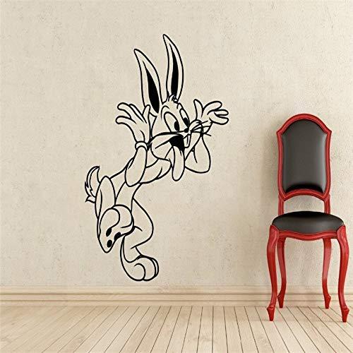 Bugs Bunny Wandtattoo Looney Tunes Cartoon Vinyl Aufkleber Kinderzimmer Dekoration Kinderzimmer Wandaufkleber 58x77cm