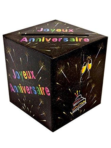 Tirelire urne joyeux anniversaire chic 3660667625236