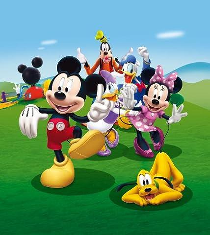 AG Design FTDxl 1931 Disney Mickey Mouse, Papier Fototapete Kinderzimmer- 180x202 cm - 2 teile, Papier, multicolor, 0,1 x 180 x 202 cm