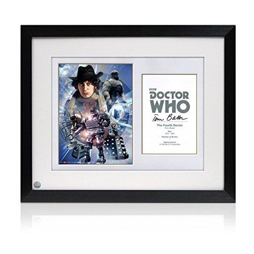 Gerahmte Dr Who Poster, signiert von Tom Baker Autogramm Sport-memorabilien