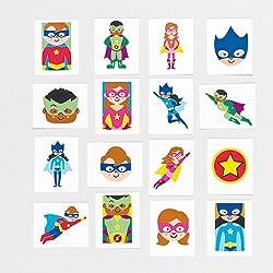 Baker Ross Calcomanías Infantiles de Superhéroes en 24 Diseños Variados, perfectos para Bolsas Sorpresa y como Idea de Regalo para Niños (Pack DE 24).