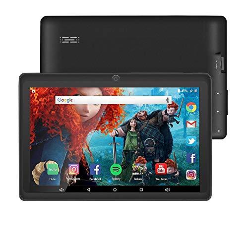 tablet 7 pollici wifi Tablet da 7 Pollici Google Android 8.1 Quad Core 1024x600 Dual Camera Wi-Fi Bluetooth 1GB/8GB Play Store Netfilix Skype 3D Game GMS Supportato con Certificazione di un Anno di Garanzia (Nero)