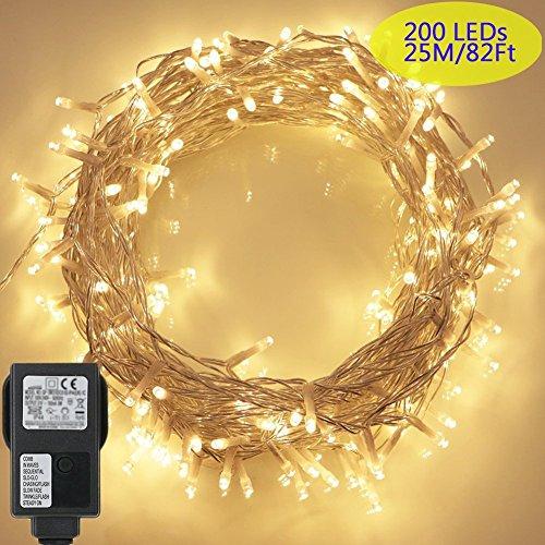 200 LED Lichterkette, Tomshine 23M Lange Lichterkette Steckdose - Halloween Fenster Leuchtet