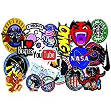 Elton 3M Vinyl Sticker Pack [20-Pcs], Lovely 3M Vinyl Nasa & Assorted Stickers For Laptop, Cars, Motorcycle, PS4. X Box One . Guitar Bicycle, Skateboard, Luggage - Waterproof Random Sticker Pack
