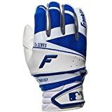 Franklin Sports 20814F2 Youth Free Flex Pro Series Batting Gloves, White/Royal, Medium