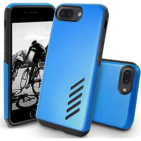 Orzly® Funda Grip-Pro para iPhone 7 PLUS (5,5 Pulgadas) - Funda duradera y ligera. Capa Doble de mayor agarre y defensa - AZUL