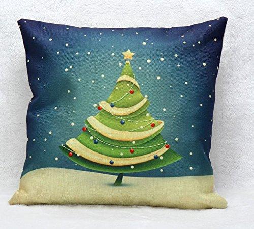Decorbox Simple moda cuadrado lino manta fundas de almohada
