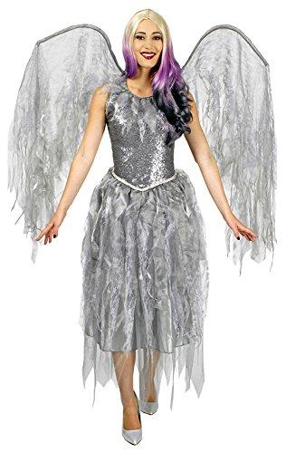 Generique Engelkostüm Barock in Silber M (Engel Des Todes Kostüm)