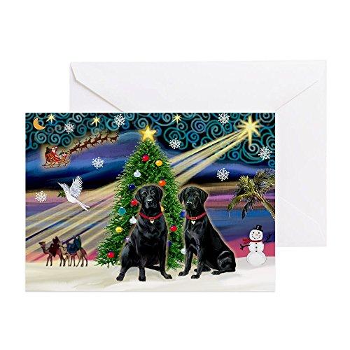 CafePress - Xmas Magic & Amp; Lab PR - Grußkarte, Notizkarte, Geburtstagskarte, innen blanko, glänzend -