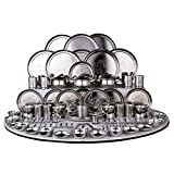 Ramson Stainless Steel Dinner Set, 124 Pieces - Steel