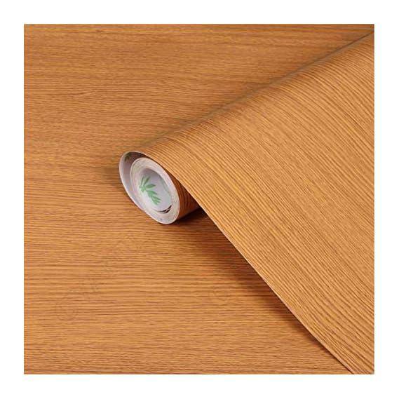 CVANU? Self Adhesive Wood Grain Wallpaper Waterproof Old Furniture Vinyl Stickers Wooden Door Wardrobe Desktop PVC Wall Papers Cv300 24''x60''inch