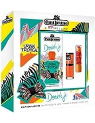 eau jeune Urban Tropical Coffret de Double Je Parfum + Baby Lips Baume pour Lèvres + Color Show Vernis 48 ml