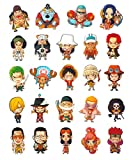 CoolChange 24 aimants avec Les Personnages Chibi de One Piece