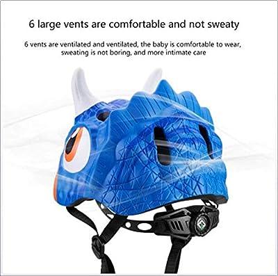 LHY TRAVEL Kids Boys/Girls Skate Helmet Animal Cycle Skateboard Bike Childs Children Youth Toddler Safety Impact Resistance Ventilation Lightweight Breathable Adjustable 52-57CM by LHY TRAVEL
