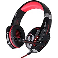 【Easter Gift Promotions】Gaming Headset with Mic for New Xbox One PS4 PC, EasySMX Crystal Clarity 3.5 mm Professional Game Headphones for Laptop Tablet Mac Smart Phone, Microsoft Adapter Needed if for Old Generation Xbox One