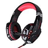 PS4 Cascos Gaming [Regalo para Padre] EasySMX Auriculares Gaming con 3.5mm Jack, Volumen Control Compatible con Android, iPhone, Mac, iPad, iPod, PC, PS4, Nueva Xbox One(Negro+Verde)