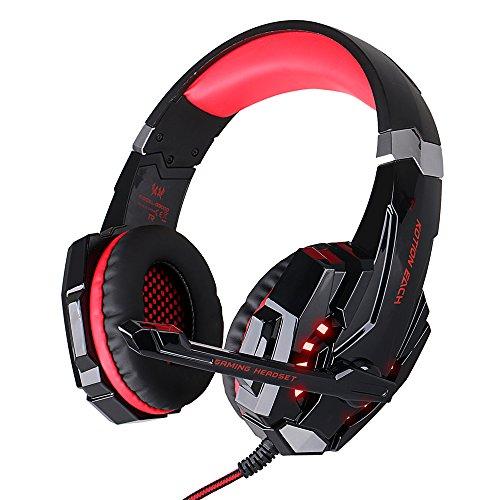 [Multi-Platform Neue Xbox one PS4 Gaming Headset] EasysMX Gaming Headsets Kopfhörer mit Mikrofon für Xbox One PS4 PC Laptop Mac iPad Smartphone (Schwarz+Grün) Xbox One-neue Spiele