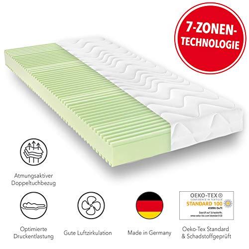 *Matratzen Concord Bari Komfortschaummatratze | 7-Zonen Aufbau | Härtegrad 2 (H2-Mittel) | 070X200 cm*