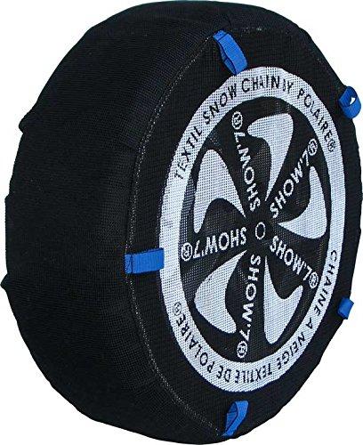 Chaussette neige textile pneu 245/50R19 excellente protection de la jante - Valise comprenant 2 chaines textile et 1 paire de gants