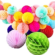 Gifts Online Honeycomb Party Decoration Balls (Set of 6)