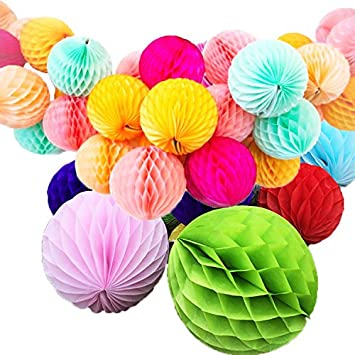 Buy Gifts Online Honeycomb Party Decoration Balls Set Of 6