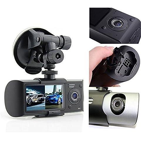 """mingchang 2,7""""120° auto videocamera dvr doppia lente anteriore e posteriore guida video Full HD 1080P videocamera Monitor con modulo GPS G-sensor Max a 32GB TF card esclusi"""