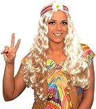 Wig Hippie Wig With Flower Headband for Fancy Dress