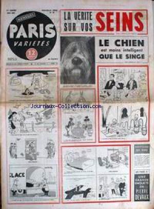PARIS VARIETES [No 48] du 01/05/1957 - VOS SEINS - LE CHIEN - P. DEVAUX - ACUPUNCTURE CHINOISE.