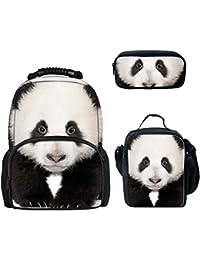Preisvergleich für Farbenfrohe 3D Tiere Zoo Rucksäcke für Kinder Schule Buch Taschen
