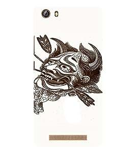 EPICCASE Face Tattoo Mobile Back Case Cover For Gionee Marathon M5 lite (Designer Case)