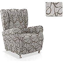 Funda sillón Orejero Fonda Tamaño 1 plaza (Estándar), Color Blanco (varios colores disponibles)