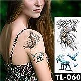 tzxdbh 3 Unids-Reloj de Transferencia de Agua Pluma Rosa Tatuaje Tatuaje Temporal patrón Arte Corporal Impermeable 3Pcs-