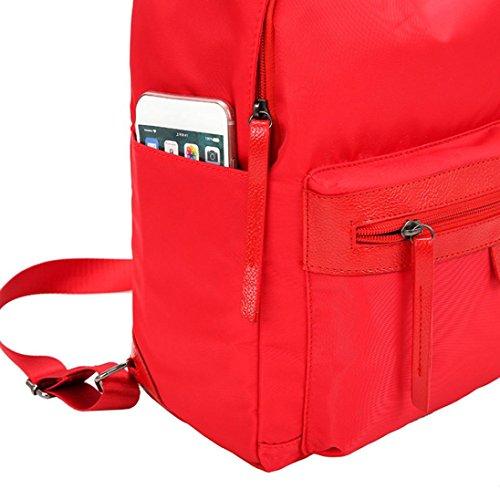 Moda Donna Oxford Solid School Borse Viaggio Zaino Borsa di Kangrunmy Rosso