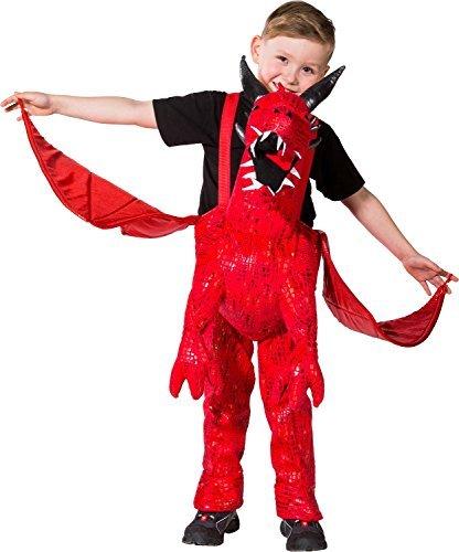 Mädchen Jungen Schritt darauf Reiten Huckepack Drachen mit Flügeln Halloween Welttag des Buches-Tage-Woche Karneval Kostüm Kleid Outfit