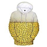 TianWlio Chemises Homme À Manches Courtes, Chemise 3D Décontractée Chemise De Plage À Manches Longues Chemises d'impression La bière Party Tops
