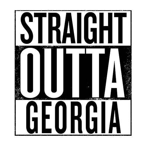 Coto7 Black Text Straight Outta Georgia US States Women's Vest White