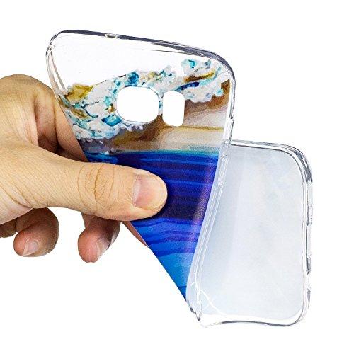 Custodia Samsung Galaxy S7 Edge, Galaxy S7 Edge Cover, Galaxy S7 Edge G935 Custodia Trasparente, JAWSEU Lusso Diamante Scintillio Bling Dura di Plastica Hard Cover Custodia per Samsung Galaxy S7 Edge  Acqua di mare #4