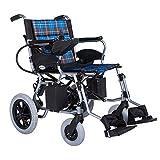 EMOGA Elektrischer Rollstuhl Elektrorollstuhl Folding 30.5Kg Leichtbau Power Elektro-Rollstuhl,Aluminiumlegierung,Sitzbreite 44Cm,Kann 110 KG Unterstützen