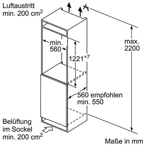 Siemens iQ500 KI42LAF40 Einbau-Kühlschrank / A+++ / Kühlteil: 195 L / Flachscharnier / HydroFreshBox / SuperCooling