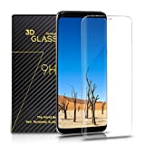 Samsung Galaxy S8 Panzerglas - SURWELL Galaxy S8 Schutzfolie [1-Pack] 3D Full Coverage 99% Transparenz Full HD für Samsung Galaxy S8 (Transparent)
